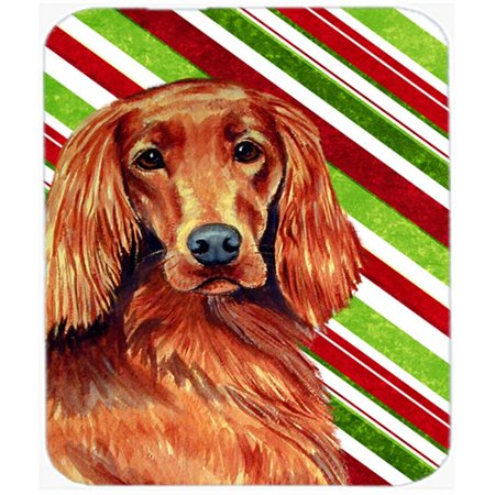 Carolines Treasures LH9254MP Irish Setter Candy Cane Holiday Christmas Mouse Pad, Hot Pad Or Trivet - image 1 de 1