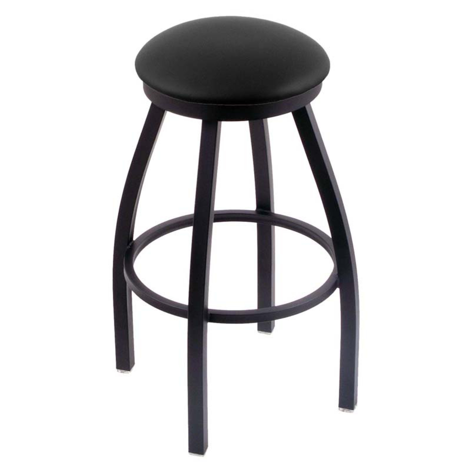 Holland Bar Stool Misha 25 in. Swivel Counter Stool with Faux Leather Seat