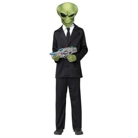 Alien Agent Suit Costume Child X-Large - Alien Morph Suit