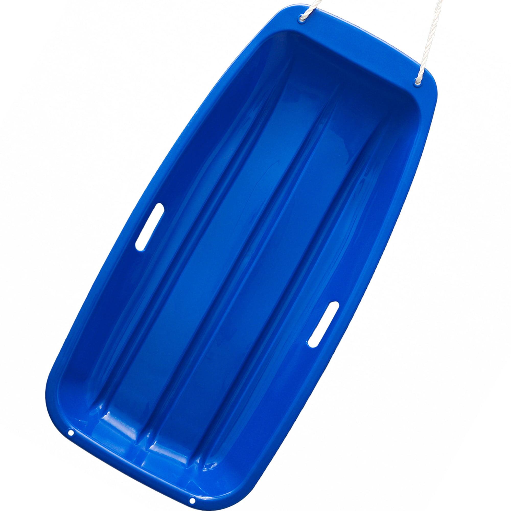 "IMage 35"" Kids Snow Sled Plastic Toboggan Boat Sledge Snowboard Blue 35*17*4.3inch by"