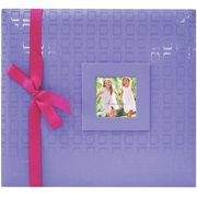"Embossed Post Bound Album 12""X12""-Purple"