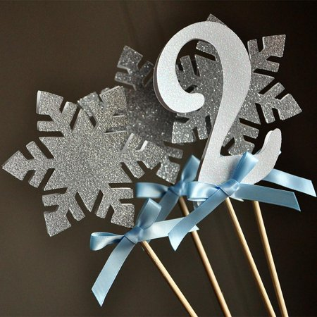 Frozen Centerpiece (4 Piece). Handcrafted in 1-3 Business Days. Winter Wonderland Party Decorations. - Frozen Center Pieces
