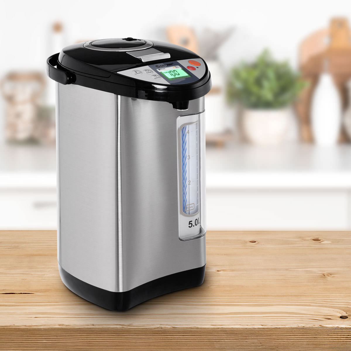 Costway 5-Liter LCD Water Boiler and Warmer Electric Hot Pot Kettle ...