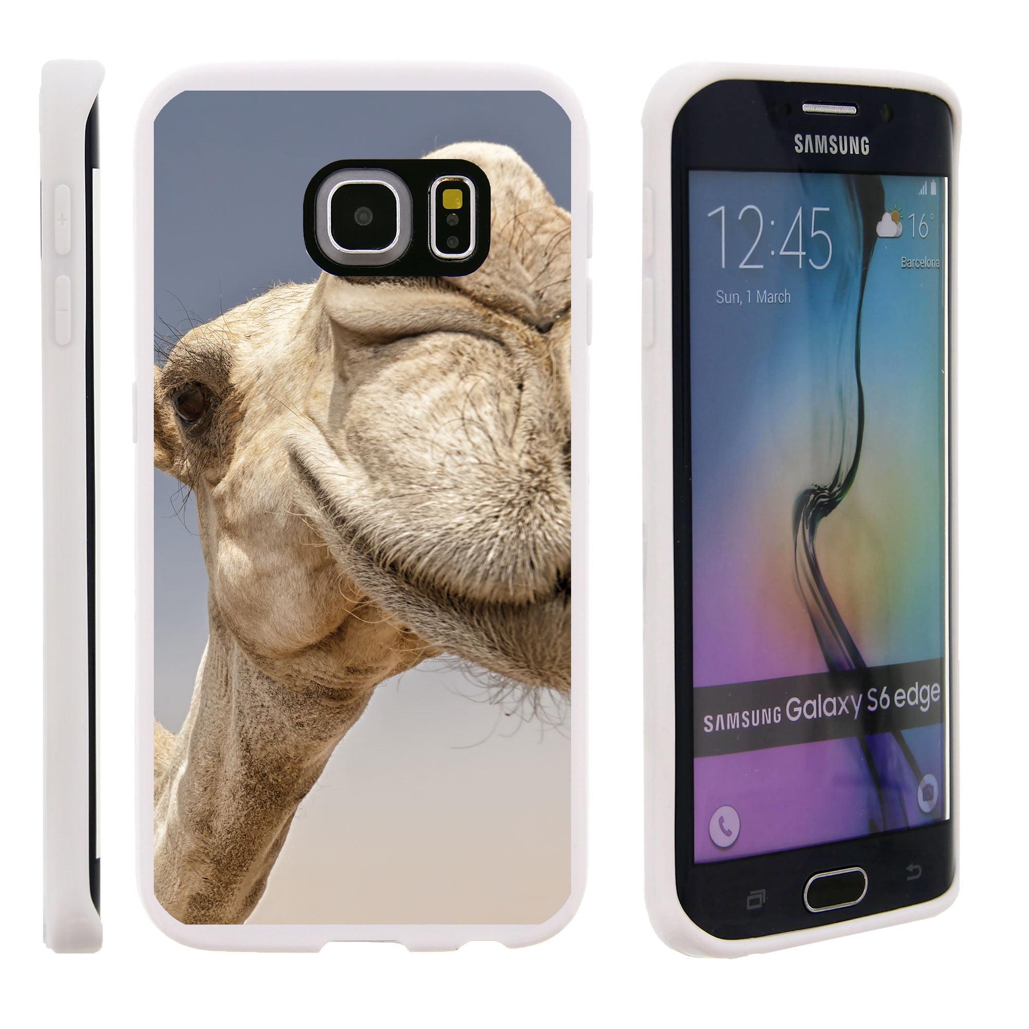 Samsung Galaxy S6 Edge G925, Flexible Case [FLEX FORCE] Slim Durable TPU Sleek Bumper with Unique Designs - Camel Close Up