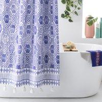 Batik Star Shower Curtain by Drew Barrymore Flower Home