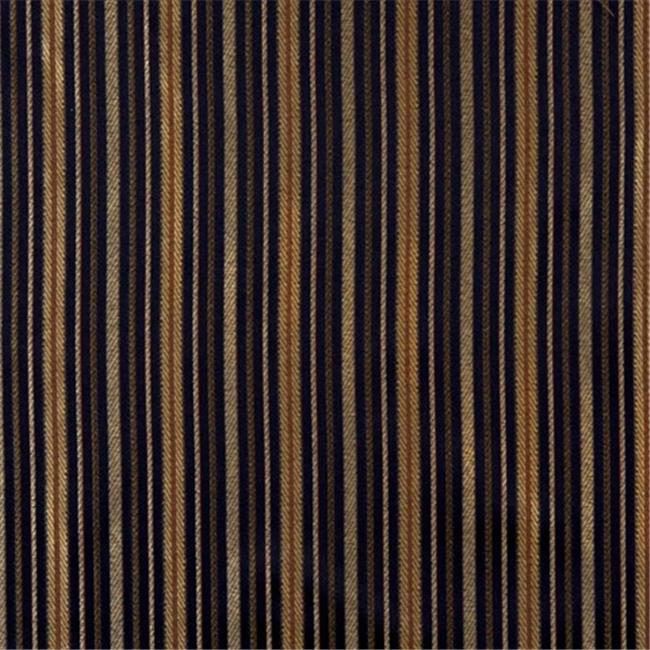 E600 Striped Navy Blue Yellow Green Damask Upholstery Drapery Fabric By The Yard