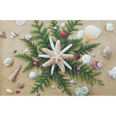 pack of 16 seaside stars fine art embossed deluxe christmas