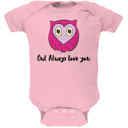 Valentine S Day Owl Always Love You Funny Pun Soft Baby One Piece