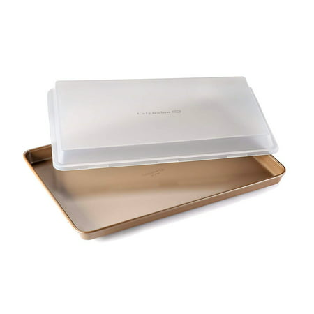 Simply Calphalon Nonstick Bakeware 12x17-inch Baking Sheet with Cover, Toffee