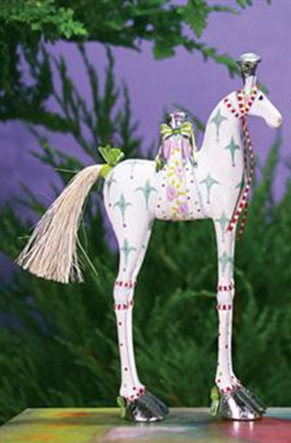 "6.75"" Patience Brewster Krinkles Anabelle Horse Decorative Christmas Ornament"