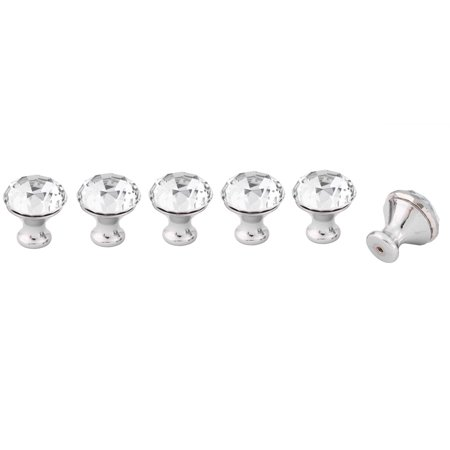 Bookcase Knob (Uxcell Home Acrylic Faux Diamond Cabinet Bookcase Drawer Pull Handle Knobs Clear)