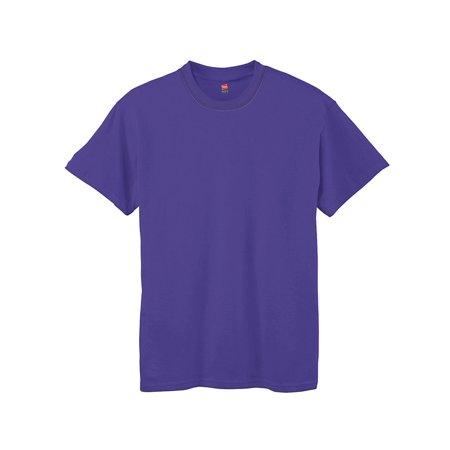Hanes Boys' TAGLESS; Comfort Soft; Crewneck T-Shirt, Color: Purple, Size: XL --- PACK OF 2 (Boys) ()