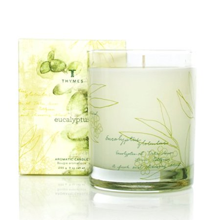 Thymes Eucalyptus Poured Aromatic Candle 9 (Glass Aromatic Candle)