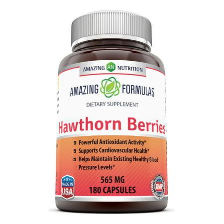Amazing Formulas Hawthorn Berries - 565mg, 180 Capsules