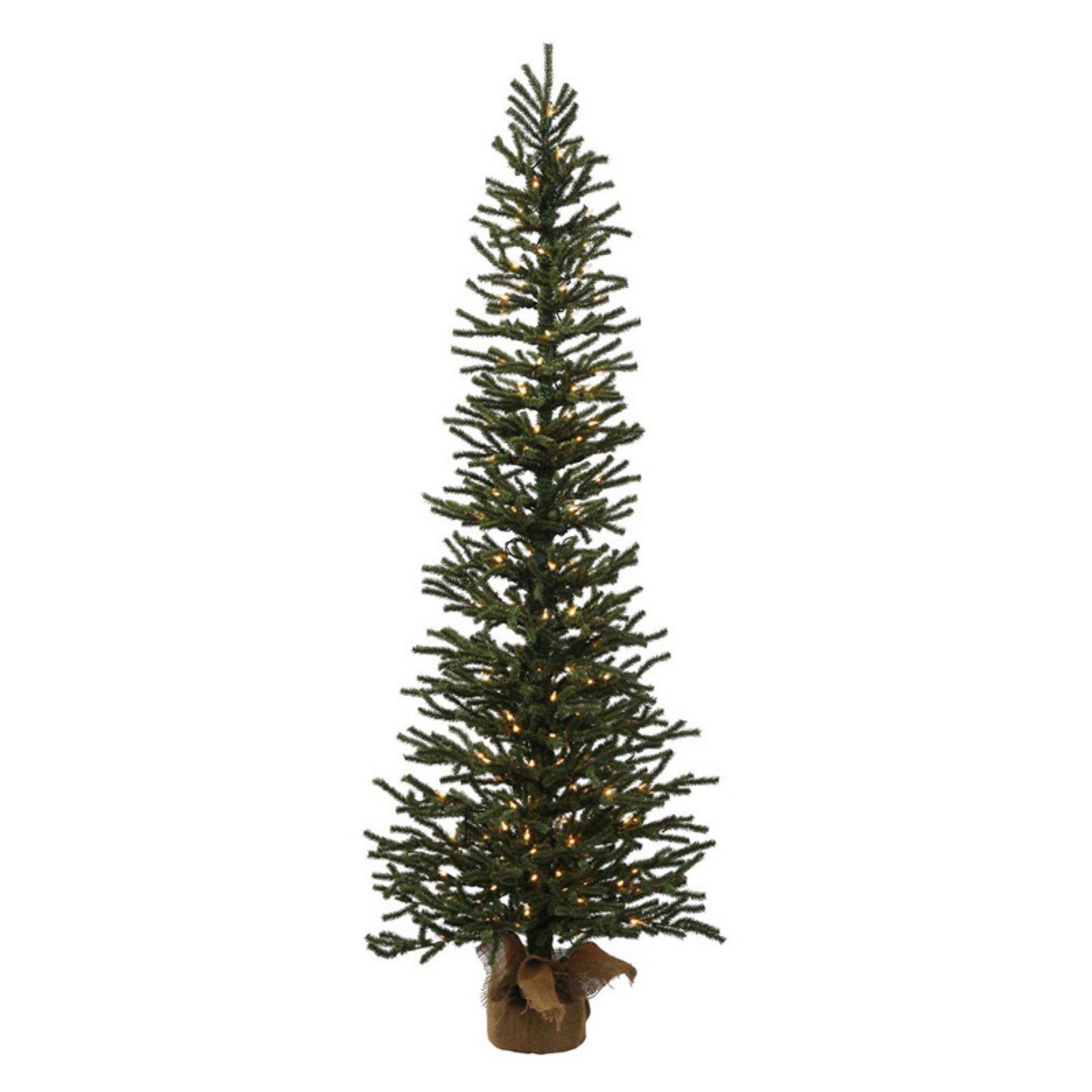 Vickerman 3 ft. Mini Pine Pre-lit Slim Twig Christmas Tree ...