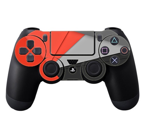 Skins Decals For Ps4 Playstation 4 Controller / Orange And Grey