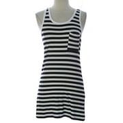 PRIORITIES Women's Stripe Bodycon Tank Dress Black/White