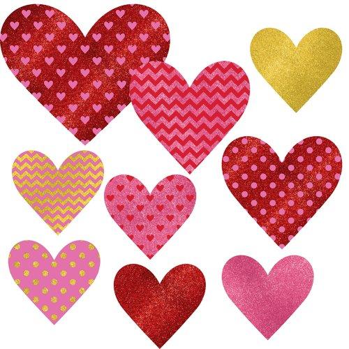 Valentine Glitter Cutouts