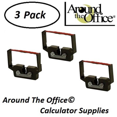 Casio Model DR-210TM Compatible CAlculator RC-601 Black & Red Ribbon Cartridge by Around The Office