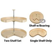Wood Kidney Lazy Susans Economy Lazy Daisy Banded Wood Independently Rotating, Kidney Shaped, Single Shelf No Hole 8...