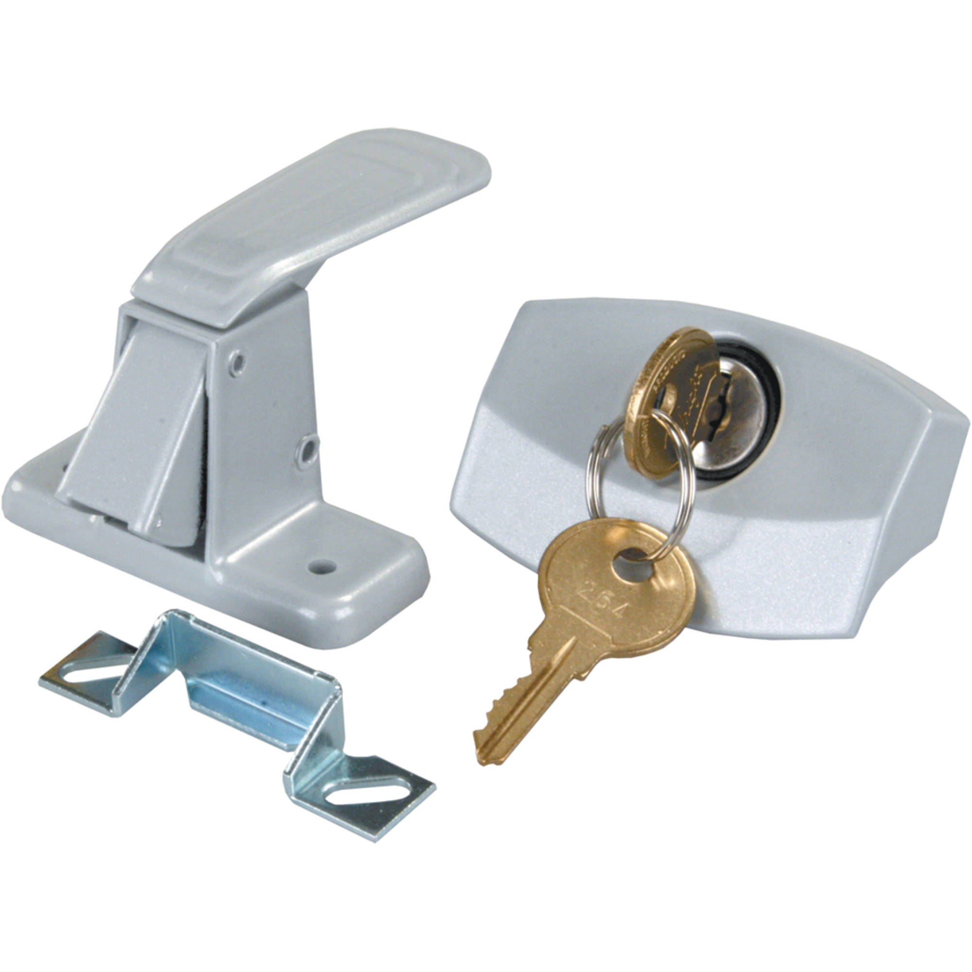 JR Products 10805 Silver Universal Door Latch for RV Camper