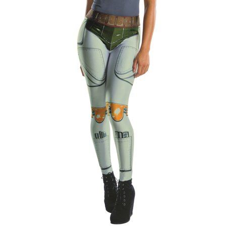 Star Wars Womens Boba Fett Leggings Halloween Costume Accessory