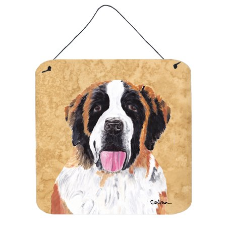 Saint Bernard Aluminium Metal Wall or Door Hanging Prints