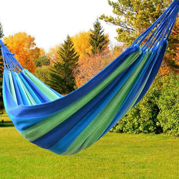 Parachute Nylon Hammock Outdoor Garden Back Yard Travel Camping Swing Hang Bed