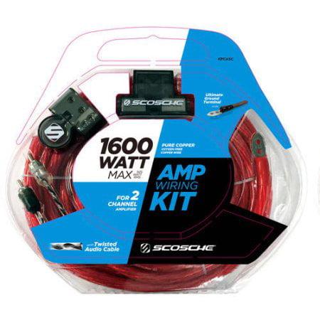 Scosche KPA5SD - 1600 Watt 8-Gauge Car Amplifier Install Kit (100% Copper Wire)