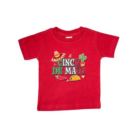 Red Hot Chili Peppers Baby Onesie (Cinco De Mayo with Sombrero Red Chili Pepper Taco and Cactus Baby)
