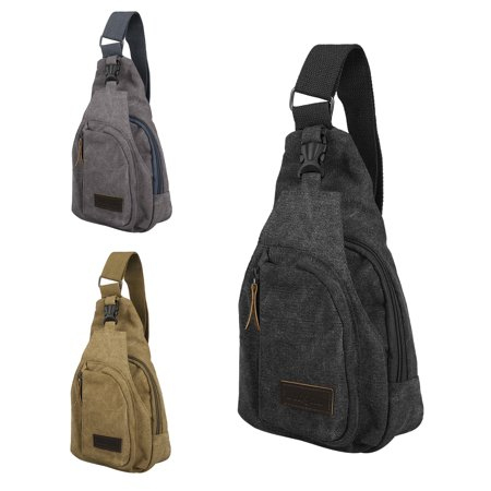 Canvas Sling Bag, TSV Lightweight Small Crossbody Daypack, Shoulder Chest Sling Backpack for Men Travel