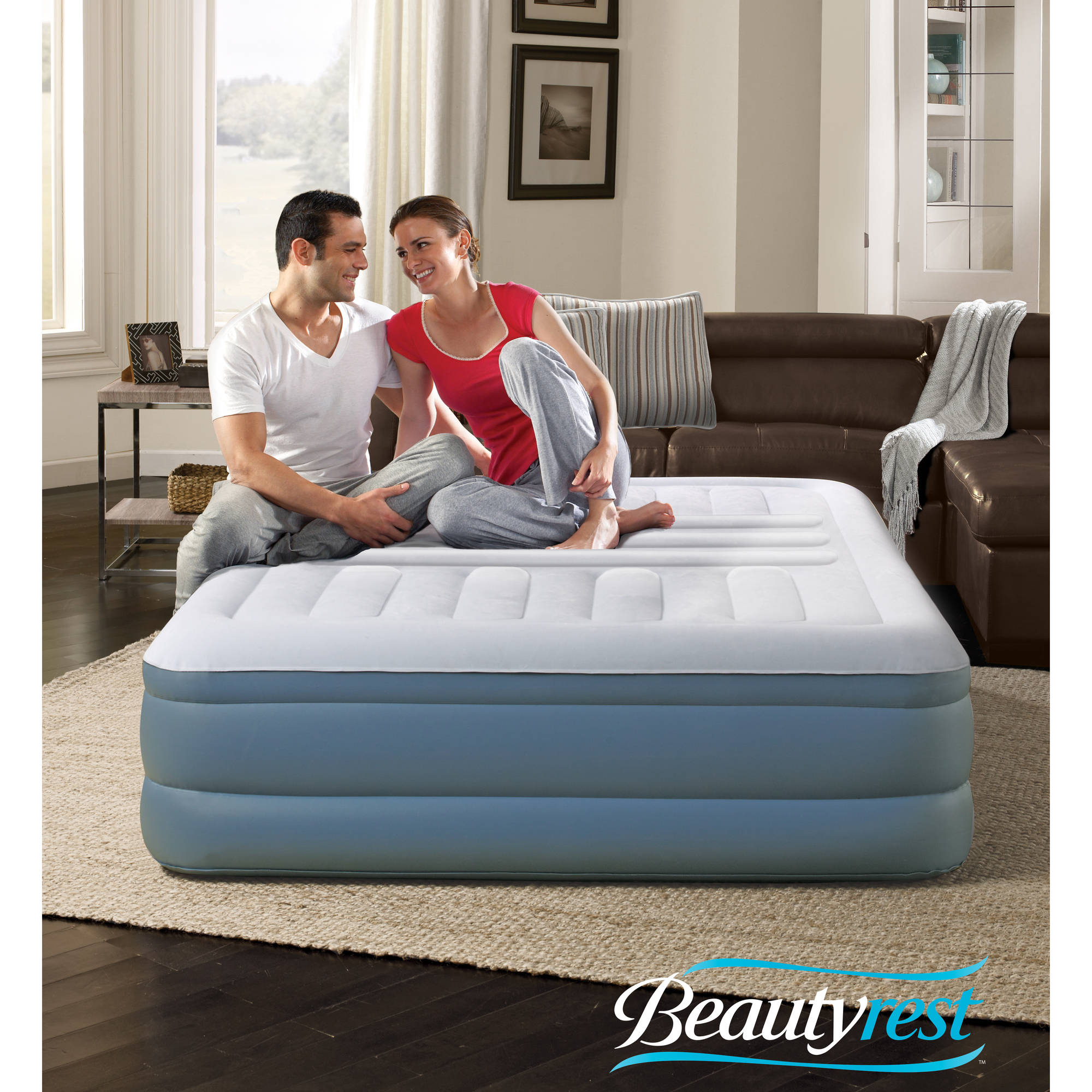 Simmons Beautyrest Lumbar Lux Queen Raised Air Bed Mattress with