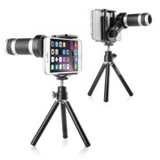 Insten 8X Zoom Telescope Camera Lens with Tripod Stand For Smartphone iPhone 7 6 Plus 6S 5S 5C 4S Samsung Galaxy S7 S6 Edge Plus S5 S4 S3 S2 Note 5 4 3 Core Prime LG K7 V10 G5 G4 G3 ZTE Zmax Universal