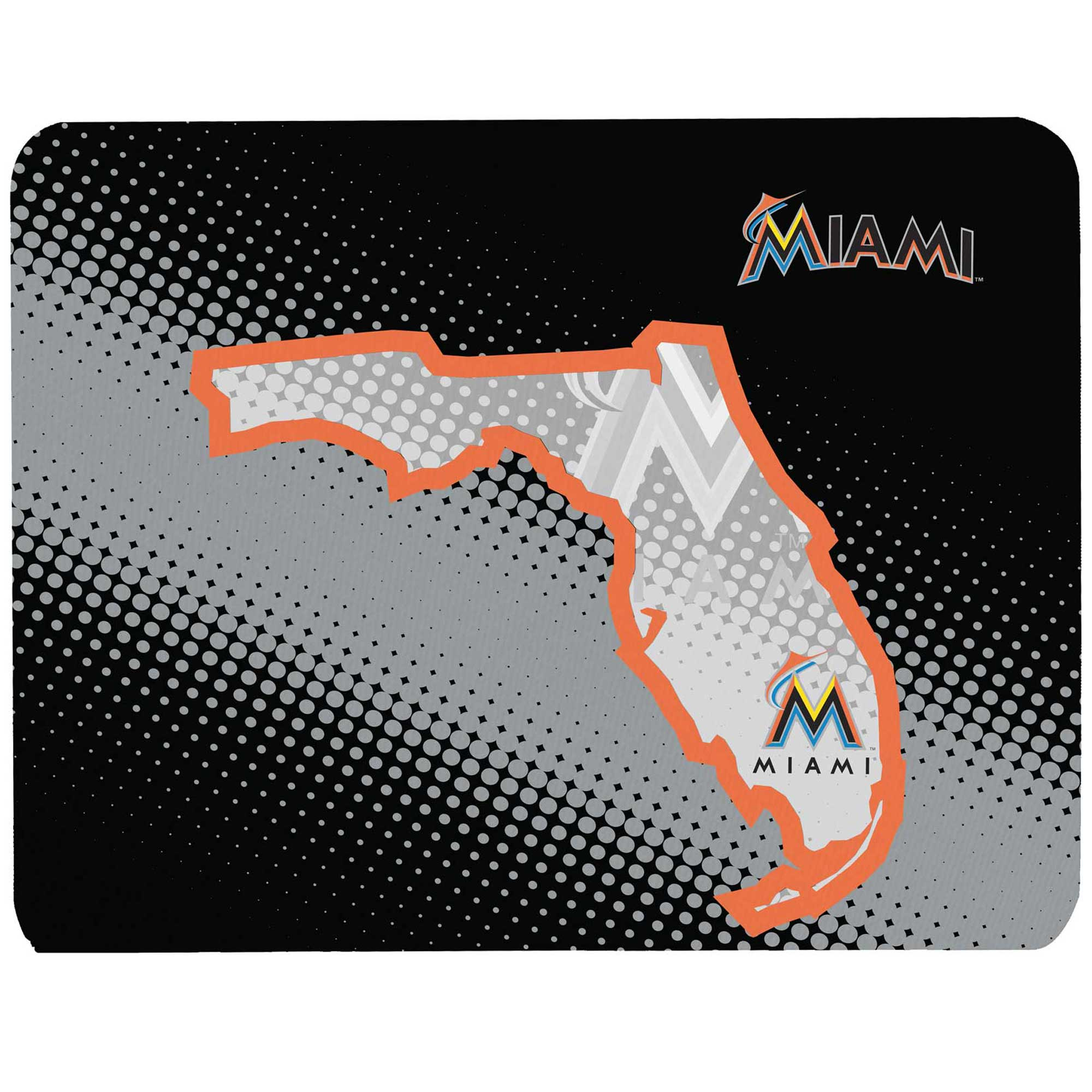 """Miami Marlins 8"""" x 9"""" State of Mind Mouse Pad - No Size"""