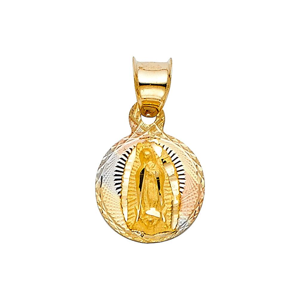 13mm x 12mm Mia Diamonds 14k Yellow Gold Best Mom with Heart Pendant