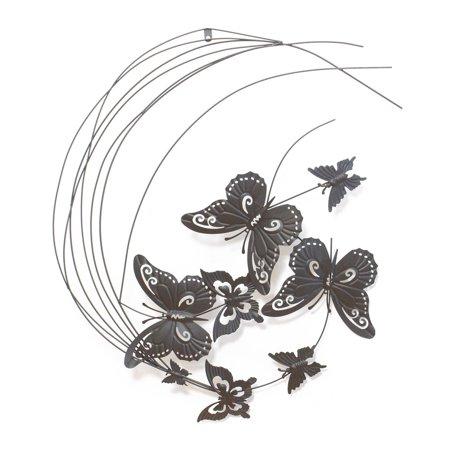 Metal Wall Decor Flying Butterflies Sculpture](Butterflies Flying)