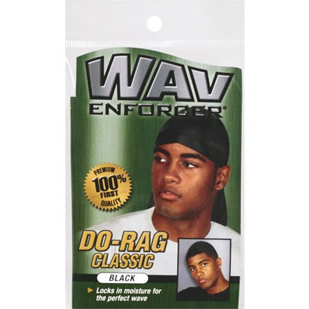 Wavenforcer Classic Do-Rag, Black