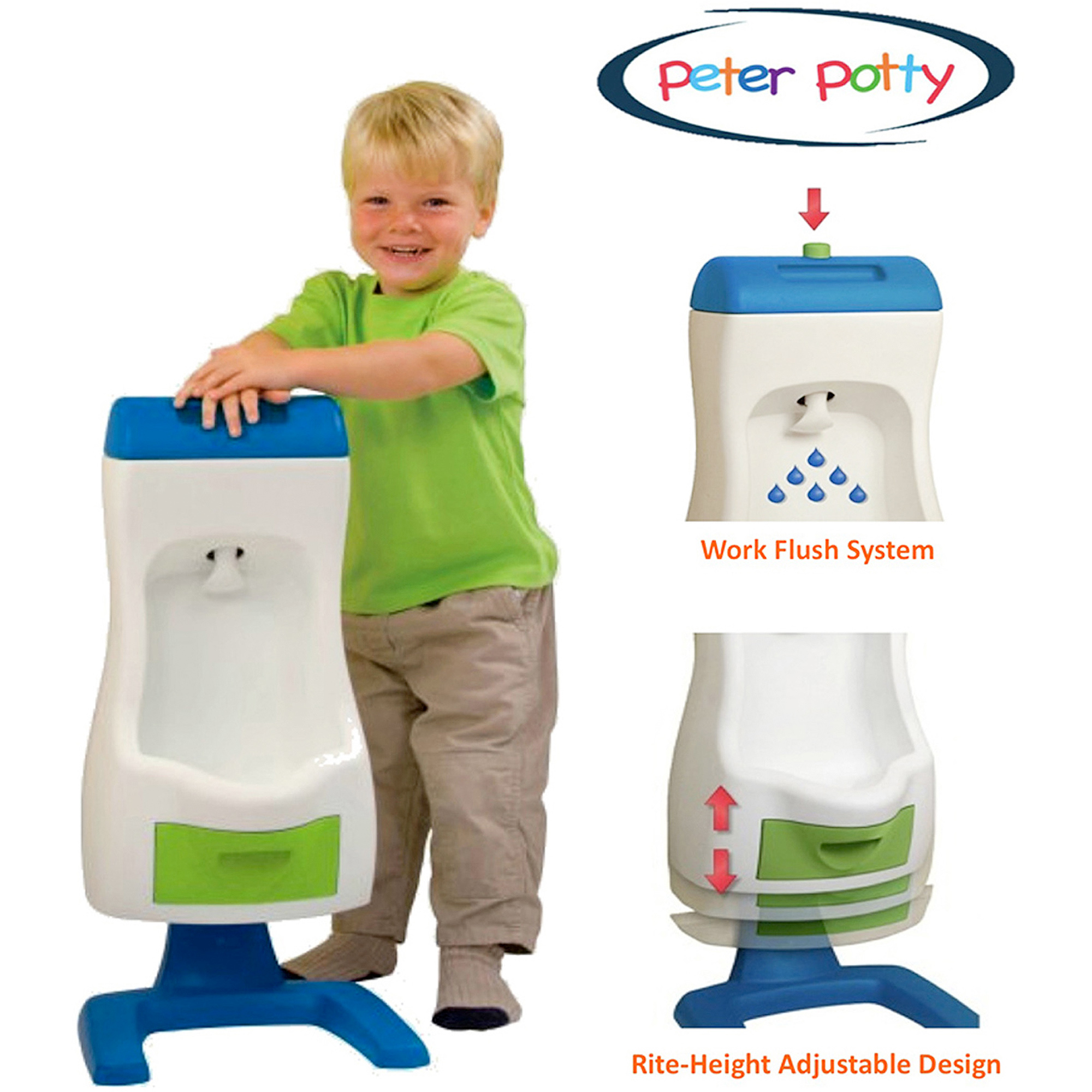 Peter Potty Flushable Toddler Urinal by Grow%27n Up
