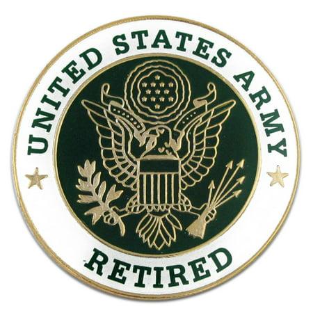 U.S. Army Retired Military Enamel Lapel Pin