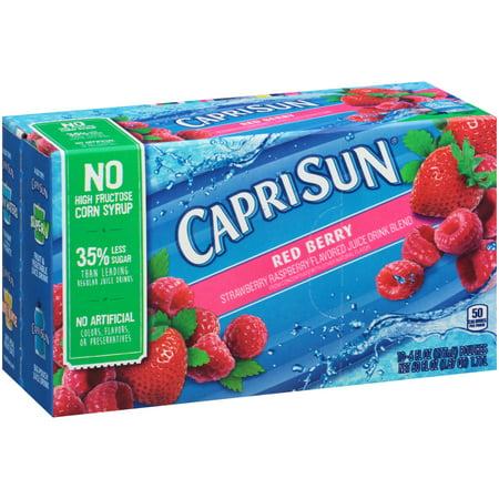 Capri Sun Red Berry Juice Drink Blend  10 Count  60 Fl Oz