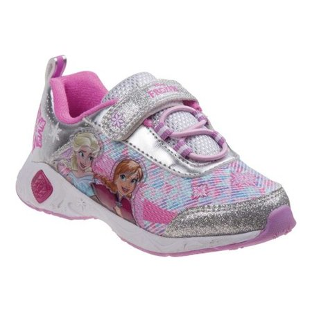 Disney Little Girls Silver Frozen Lace-Up Hook-And-Loop Sneakers](Disney Frozen Shoes)