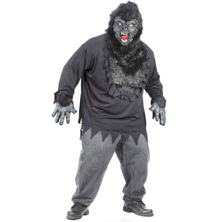 Adult Plus Size Easy Gorilla Costume - Cheap Easy Adult Costumes