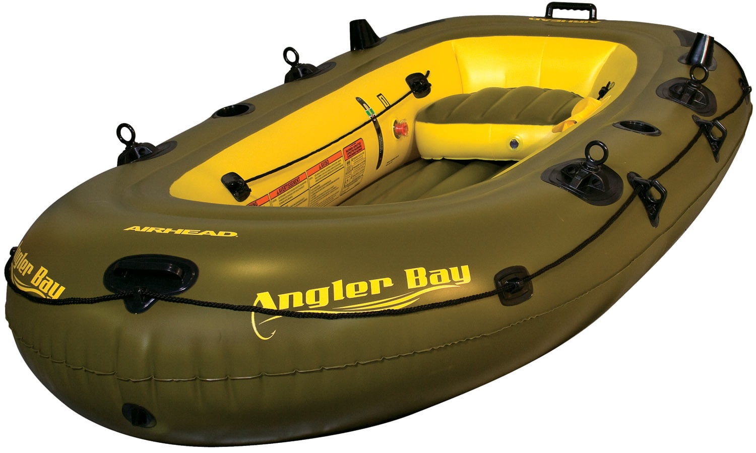 ANGLER BAY Inflatable Boat, 4 person by AIRHEAD SPORTS GROUP