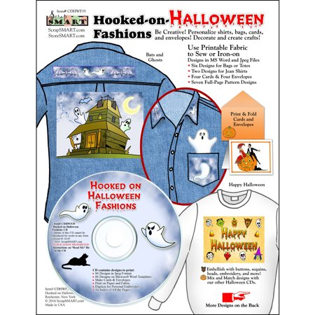 ScrapSMART Hooked-on-Halloween Fashions CD-ROM: Fabrics, Cards and Envelopes