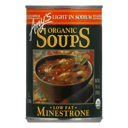 Amys Soup Minestrone Light in Sodium, 14.1 OZ (Pack of 12)