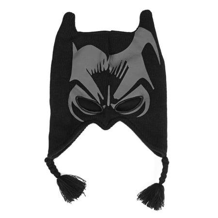DC Comics Batman The Dark Knight Face Print Laplander Beanie Hat (Beanie Hat Dc)