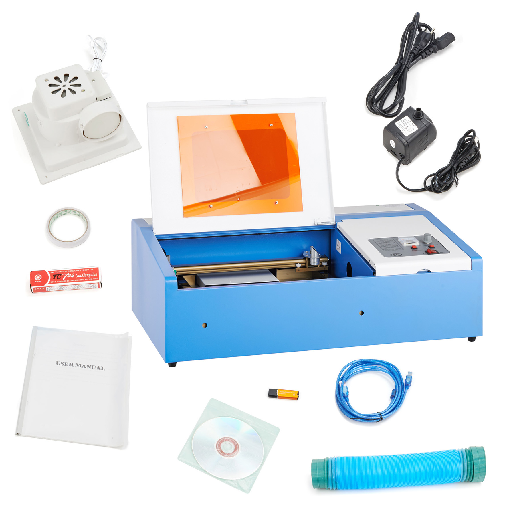 NEW 40W CO2 Laser Engraving Cut Machine Engraver Cutter USB Port High Precise