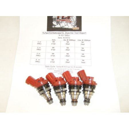 Fits Nissan 200SX,240SX set of 4 555cc direct fit side feed fuel injectors