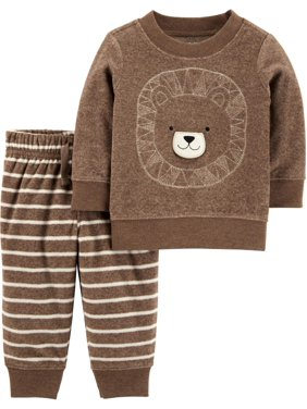 Child of Mine by Carter's Fleece Sweatshirt & Jogger Pants, 2pc Outfit Set