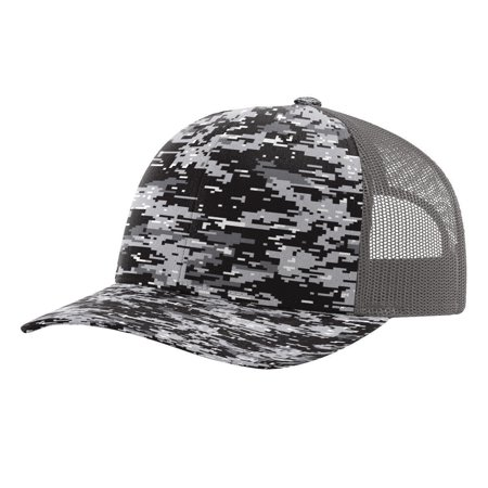 M16 Mid Cap (Richardson - Patterned Structured mid-profile Snapback Precurved Trucker Cap )